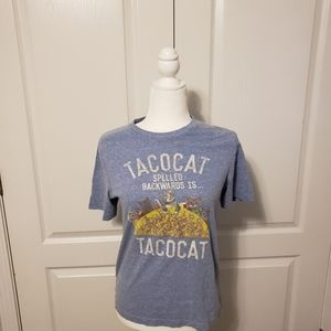 Tacocat fitted women's tee. Size large
